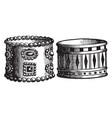 persian and egyptian armlets vintage engraving vector image vector image
