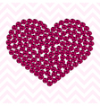 pink heart pattern made roses vector image vector image