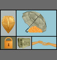 protection symbols set vector image