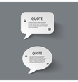 Quote form on paper speech bubbles vector image