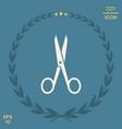 scissors icon symbol vector image