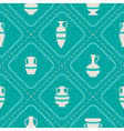 Seamless background with antique amphoras vector image vector image