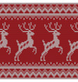 seamless deer knitting pattern vector image vector image