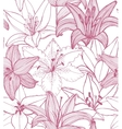 seamless lily background vector image vector image