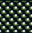 seamless pattern with flowers and leaves on dark vector image