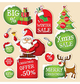 Set of Christmas price tags vector image vector image