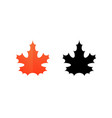 sign of maple leaf vector image
