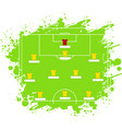soccer tactic table the vector image