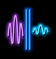 sound and silence neon glow icon vector image vector image