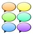 Speech bubble in different color vector image