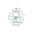 sprout in bottle eco icon in line art vector image vector image