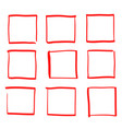 square box hand drawn doodle style for web site vector image vector image