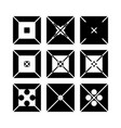 squares logos vector image vector image
