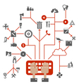 Tool a network vector image vector image