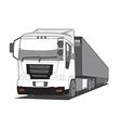 trailer truck vector image