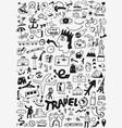 travel transportation doodle vector image vector image