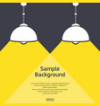 two lamps with light background vector image vector image