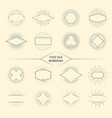 Vintage beauty sun rays borders or retro circles vector image vector image