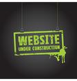 website paper sign vector image vector image