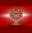 wheel of fortune 3d object on red background vector image