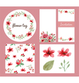 Flower decoration design set vector image