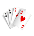 Playing cards isolated on white vector image