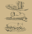 Food pictures for menu vector image