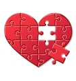 Heart puzzle isolated on white background vector image