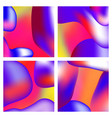 a set trendy liquid backgrounds red gradient vector image vector image