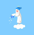 adorable god cartoon character in action on white vector image vector image