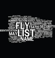 are you on no fly list what you can do text vector image vector image