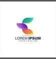awesome letter e logo design vector image vector image