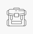 bag camping zipper hiking luggage line icon vector image