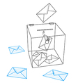 Ballot box vector image vector image