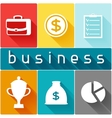 Business and finance concept from flat icons in vector image