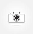 camera icon2 vector image vector image