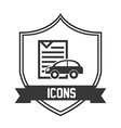 car icon pictogram vector image