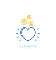 charity linear icon vector image