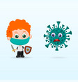 child fight with virus vector image