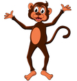cute monkey cartoon expression vector image vector image