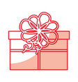 cute shadow christmas gift vector image vector image