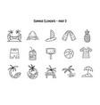 design various summer symbolsand vector image vector image