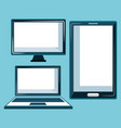 electronic devices set icons vector image