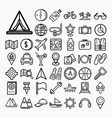 Equipment Travel and sea icons vector image