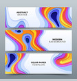 fashion abstract advertising banners with vector image vector image