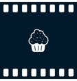 Flat paper cut style icon of cake vector image vector image