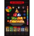 food pyramid infographics vector image vector image