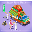 Food Truck 12 Isometric Vehicles vector image vector image