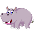 funny hippo cartoon posing vector image vector image