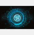 futuristic circle hud ui main element vector image vector image